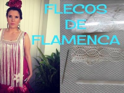 Cómo hacer flecos de flamenca