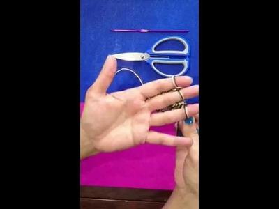 Como hacer fulares tejidos con los dedos