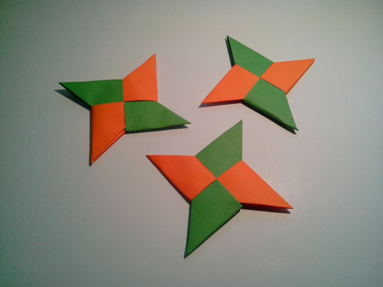 Como hacer un shuriken de papel (arma de papel)
