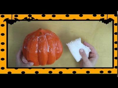 Como hacer una calabaza en forma de cabeza de momia