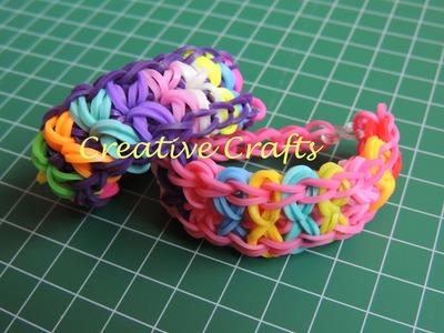 Como hacer una pulsera de gomitas corbata de lazos Rainbow Loom Bow Tie.