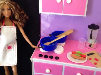 COMO HACER UTENCILIOS DE COCINA PARA MUÑECAS.HOW TO KITCHEN UTENSILS FOR DOLLS