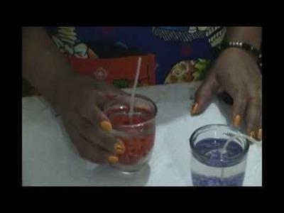 Cómo hacer velas de gel