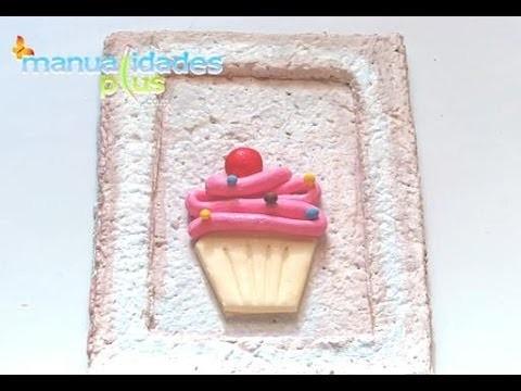 Cuadro Cupcake para cocina en porcelana fría y MDF