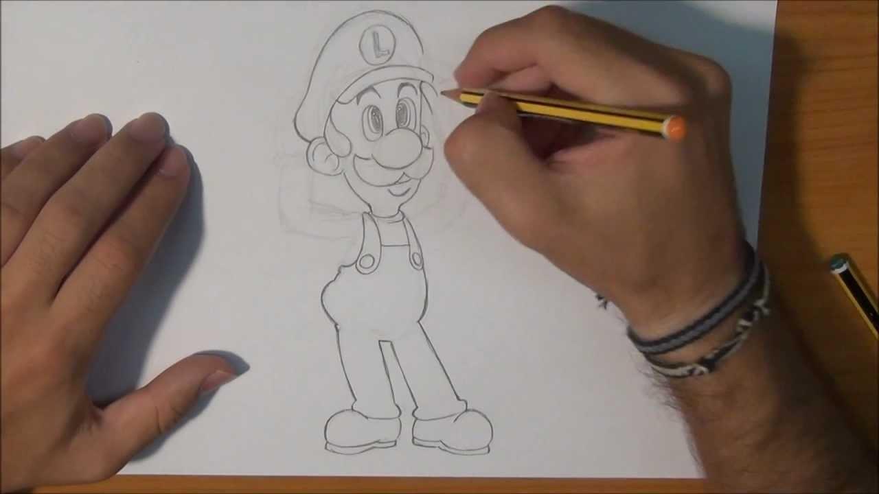 Dibujar a Luigi - Draw Luigi