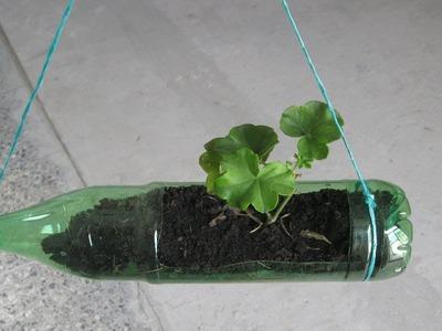 DIY; ¿Como hacer macetas con botellas plásticas, manualidades ecológicas.