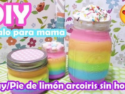 DIY DIA DE LAS MADRES ♥ Pay.Pie de limón arco iris sin hornear ♥