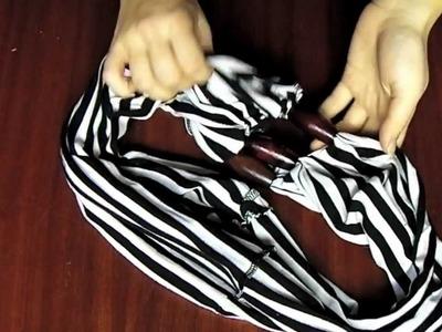 DIY ** Pañuelo de primavera reciclado ** Recycled spring scarf