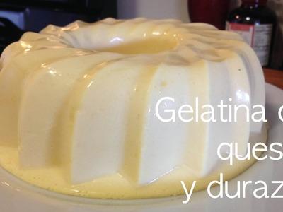 Gelatina de queso y durazno !!!! receta facil