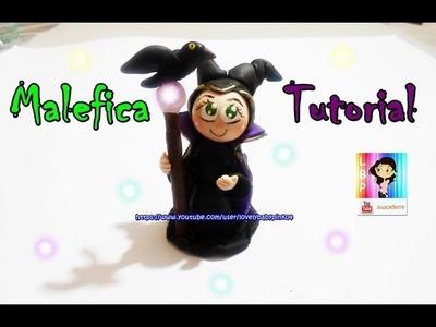How to make Maleficent. Como hacer a malefica en pasta flexible -- Paso a paso figuras