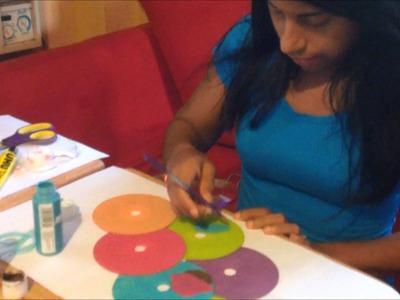 Manualidad de Reciclaje: con CDS para decorar en la pared