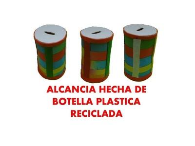 Manualidades. Como hacer alcancía con botellas  recicladas _ RECICLAJE