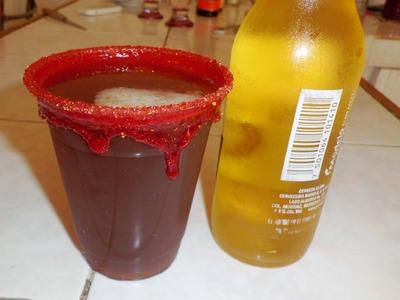 Michelada con Chamoy ( deliciosa y refrescante )- PORQUE SE ME ANTOJA