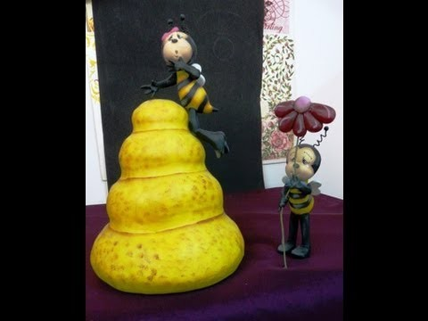 Modela unas simpáticas abejas en porcelana fría