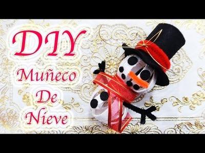 MUÑECO DE NIEVE. SNOWMAN | MANUALIDADES NAVIDEÑAS | RECICLAJE | DIY - YuureYCrafts
