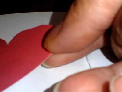 Tarjeta cuaderno decorado con corazones.