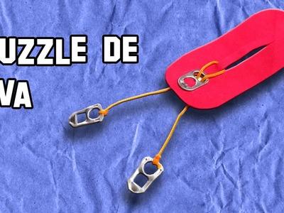 Como Hacer el Puzzle de Goma Eva   How to Make the Puzzle of Goma Eva