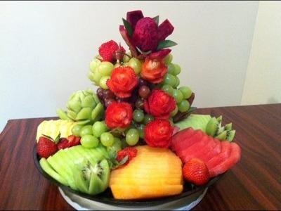 Cómo hacer un platon de frutas para una fiesta o regalo #1 - DIY - La receta de la abuelita