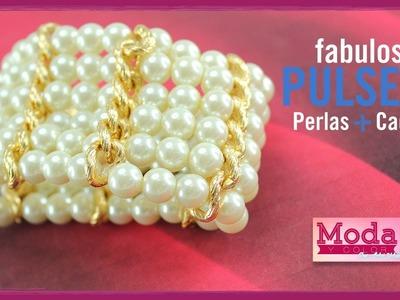 Como hacer una pulsera perla 6 vueltas con Adri Muñoz Kit 23342