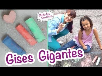 Cómo se hacen los Gises Gigantes o tizas :: Manualidades Sammily :: Chuladas Creativas