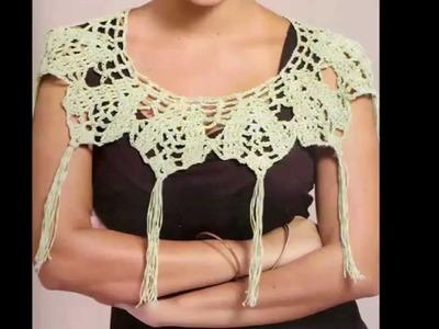 Cuello Adorno Tejido a Crochet