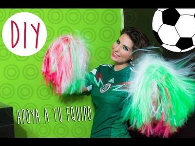 DIY: Como hacer pompones para apoyar a tu equipo. How to make cheerleader pom poms