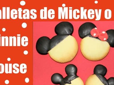 Galletas o Cookies de Mickey Mouse y Minnie mouse