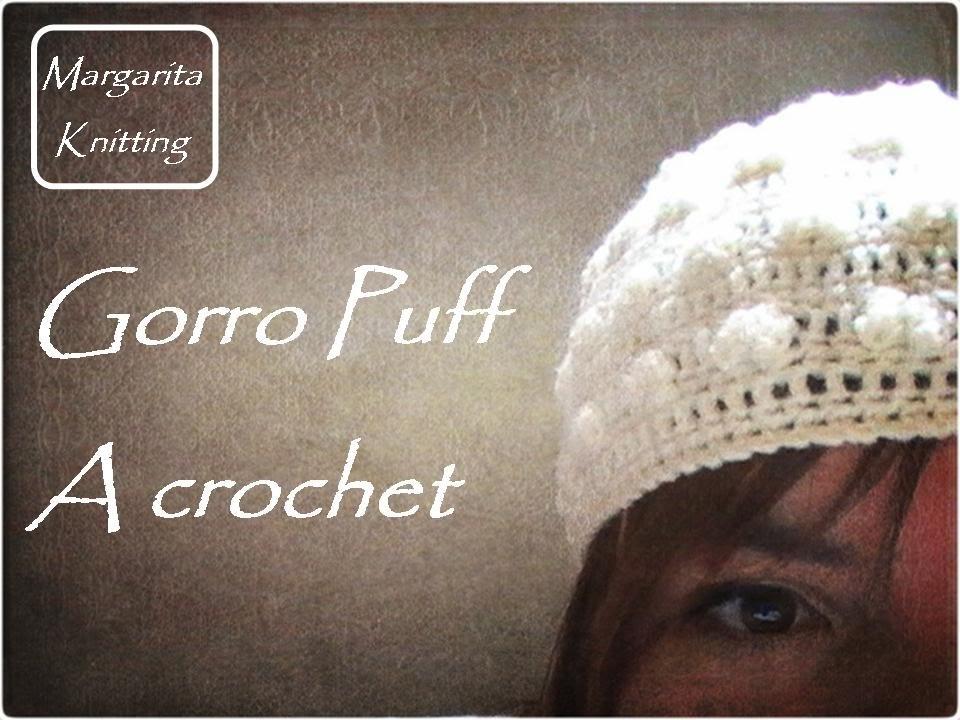 Gorro puff a crochet (zurdo)