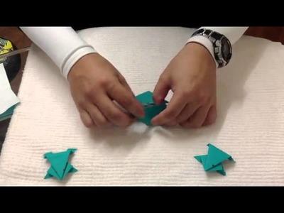 Hacer un sapo de papel - Animales de origami