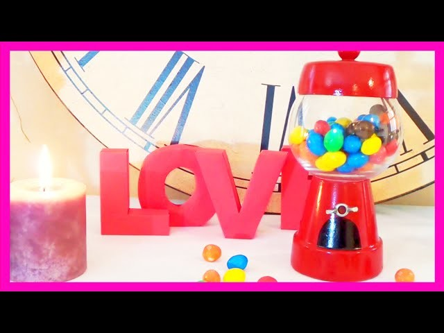 Ideas para regalar San Valentín, máquina de chicles 14 de febrero dia de enamorados Isa ❤️