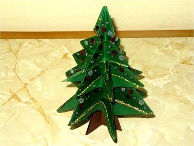Manualidades árbol de papel 3D