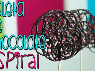Paletas de Chocolate Espiral - Receta fácil en 5 minutos - DIY