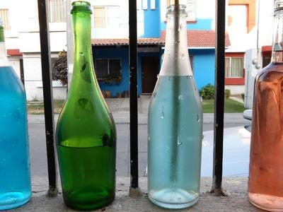 Recicla tus botellas de vidrio