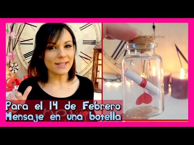 Sustituye la típica tarjeta de san valentín por un romántico mensaje en una botella Isa ❤️