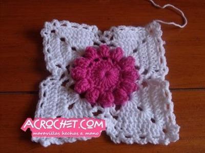 Trabajamos una flor margarita en crochet Paso 1