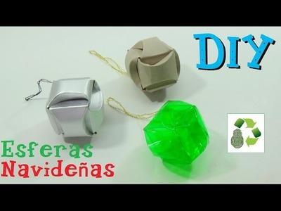 138. DIY ESFERAS NAVIDEÑAS (RECICLAJE)