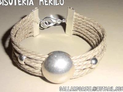 Bisuteria hecha a mano MERILO Junio 2012. Pulseras, collares, anillos y pendientes