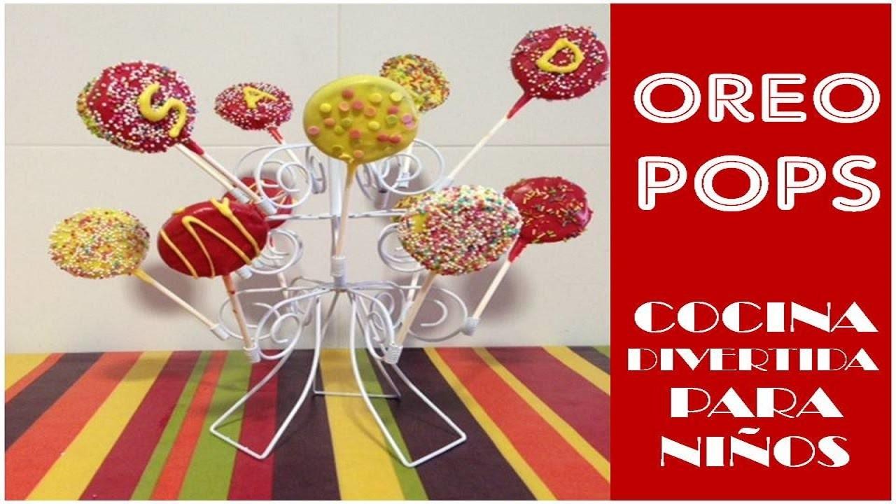 Cocina divertida para niños: Oreo pops