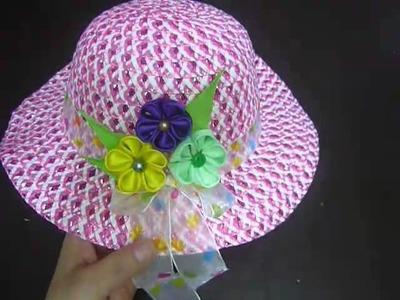 .Como decorar un sombrero para la playa facilmente No.122 Manualidades la hormiga