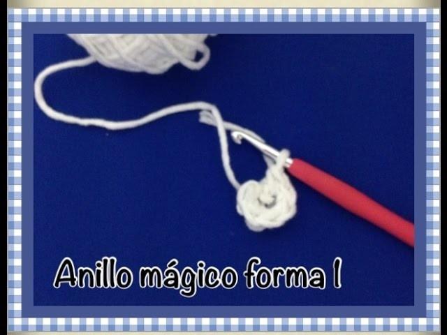 Como hacer  anillo mágico amigurumi facil ( forma 1 )