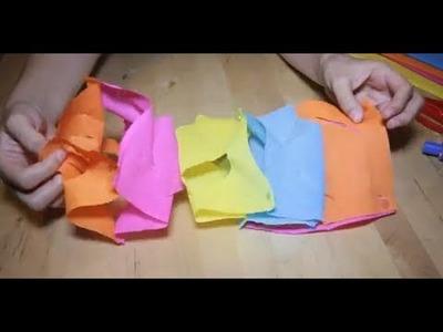 Cómo hacer guirnaldas con papel pinocho | facilisimo.com
