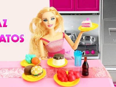 Cómo hacer platos para muñecas FÁCIL  - Manualidadespara muñecas
