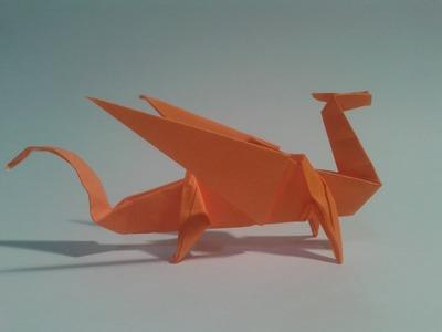 Como hacer un dragón de papel (origami)
