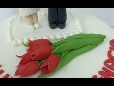 Cómo modelar una flor de fondant. Modelando un tulipán rojo