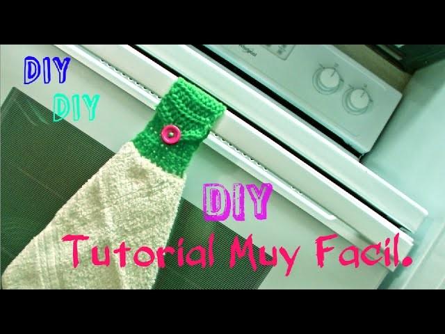 Como tejer una Toalla Video #1: accesorio de cocina