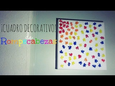 """CUADRO DE ROMPECABEZAS"" | CUADRO DECORATIVO (Reciclaje) - Consejosjavier"