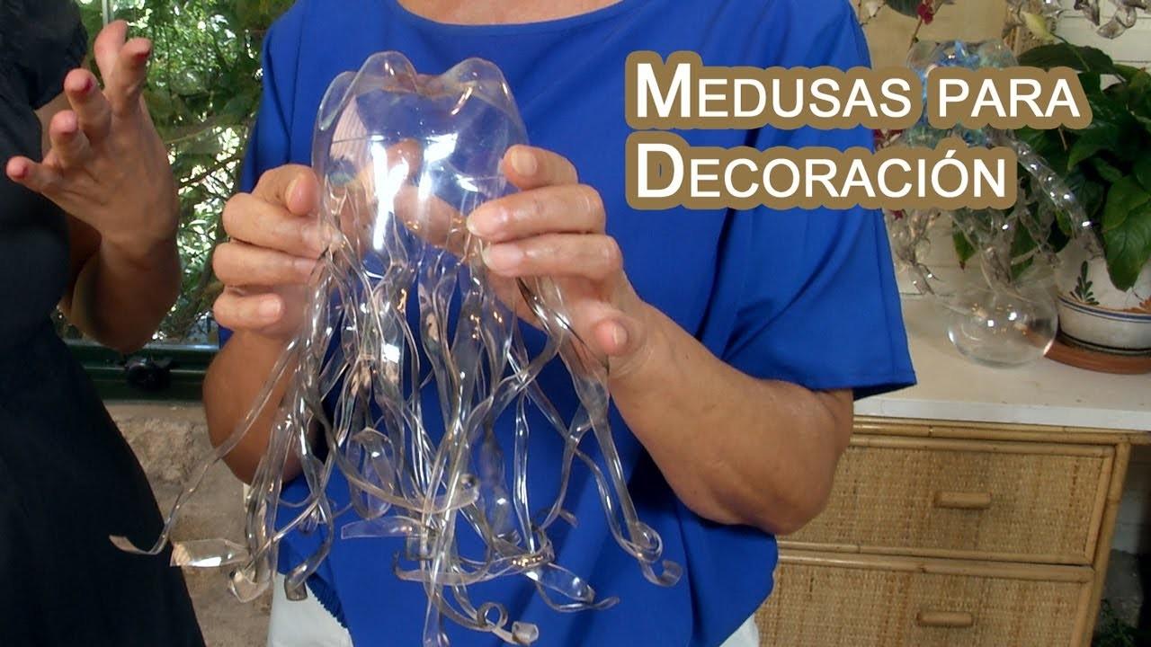 Decoracion Medusas Colgantes de Botellas PET