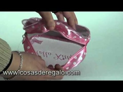 Demo Bolsa transparente de color rosa Hello Kitty