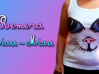"""♥♥  DIY """"Remera Ojos de Gato"""" ♥♥ (Miau-Miau)"""