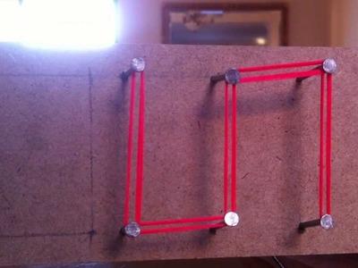 Manualidades: cuadro con hilos - escribir con hilos